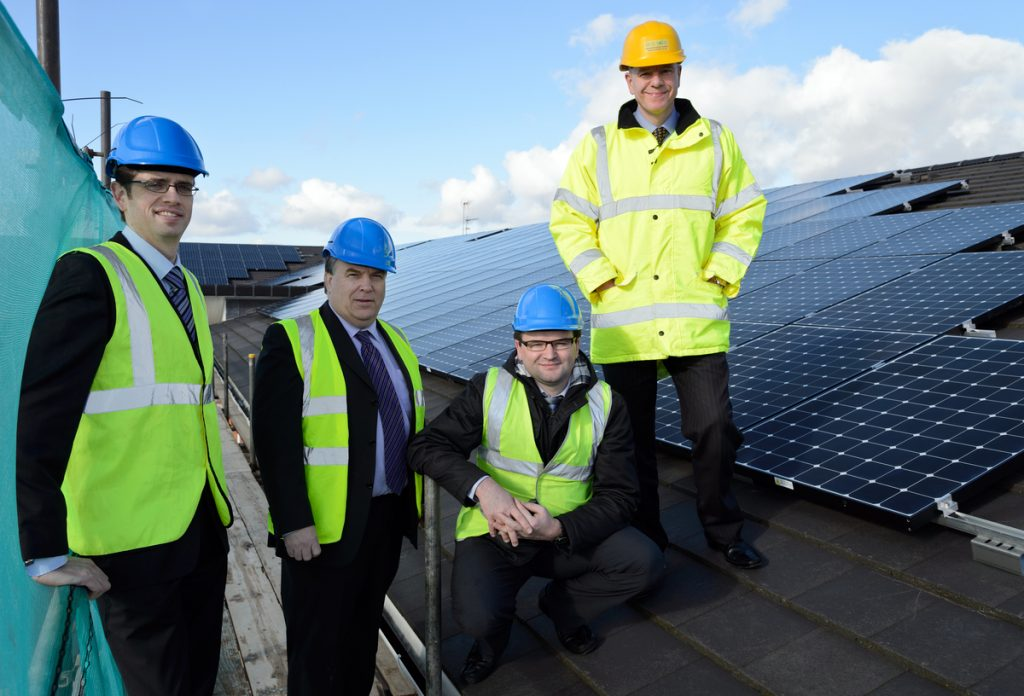 "Residents at The Rose Garden Extracare village in Hereford are set to make significant energy savings, thanks to an 80-kilowatt solar energy system installed by renewable energy specialist Eco2Solar. The major investment by Festival Housing, owners of The Rose Garden, is expected to save each resident around £80 per year on their energy bills, as well as providing 33.5 tonnes of carbon savings per year. Kidderminster based Eco2Solar was selected as project installer to manage Festival's biggest solar panel installation to date at The Rose Garden, following a competitive tendering process. The Rose Garden system comprises 245 Sunpower E20/333 panels and is expected to produce more than 67,042 units of 'green' energy every year – equivalent to the annual electricity use of 20 average households. All electricity generated will be used on site, helping to reduce service charges for residents living at The Rose Garden. Festival Housing will also benefit from the government-backed Feed in Tariff (FIT) and is expecting to generate a significant sum in tax-free income. ""Eco2Solar worked hard and efficiently to ensure The Rose Garden solar PV installation was a complete success, with little disruption for our residents,"" commented Simon Williams, maintenance manager at Festival Housing. He said: ""Festival's residents will benefit hugely from these new solar panels as they will see a significant reduction in their energy bills through their service charge. ""We already regularly install solar panels on our domestic properties but this has been Festival's biggest solar panel project so far. Over the lifetime of the panels, the system will pay for itself accounting for both the Feed-in-Tariff income and the savings created from the electricity generation."" As part of its on-going partnership with Festival Housing, Eco2Solar has recently completed solar PV installations on 180 domestic homes located in Worcestershire and Herefordshire. ""We are delighted to strengthen our partnership and help Festival generate its own electricity at The Rose Garden,"" commented Paul Hutchens, managing director of Eco2Solar. He added: ""It's fantastic to see residents at The Rose Garden benefit from Festival's investment in solar PV especially at a time when energy prices are getting significantly higher."" The Rose Garden offers an innovative approach to retirement living aimed at the over 55s. Built in 2008, the £15 million development is made up of one and two bedroom apartments and boasts a wide range of facilities including fitness gym and spa pool, restaurant and bar, hair salon and well-being centre."